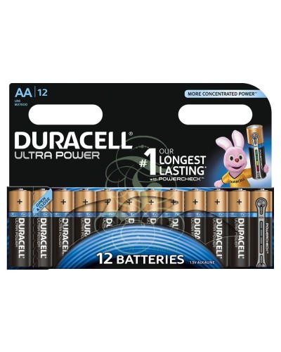 Duracell Ultra Power Battery AA Mignon LR6 MX1500, 12 Pack