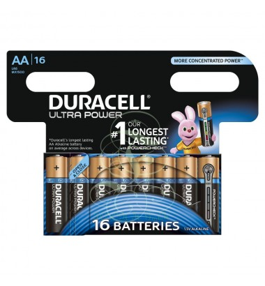 Duracell AA Battery, Mignon (LR6, MX1500) Ultra Power; 16 Pack