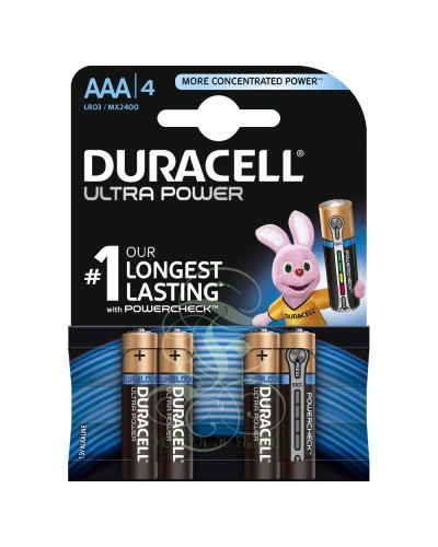 Duracell Ultra Power Battery AAA Micro LR03 MX2400, 4 Pack
