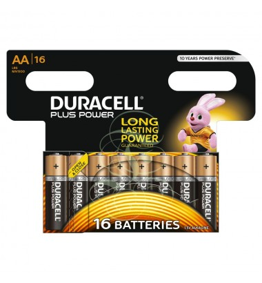 Duracell Plus Power Battery AA Mignon LR6 MN1500, 16 Pack