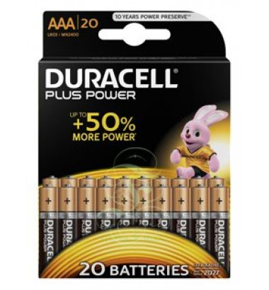 Duracell Plus Power Battery AA Mignon LR6 MN1500, 20 Pack