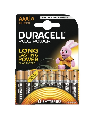 Duracell Plus Power Battery AAA Micro LR03 MN2400, 8 Pack