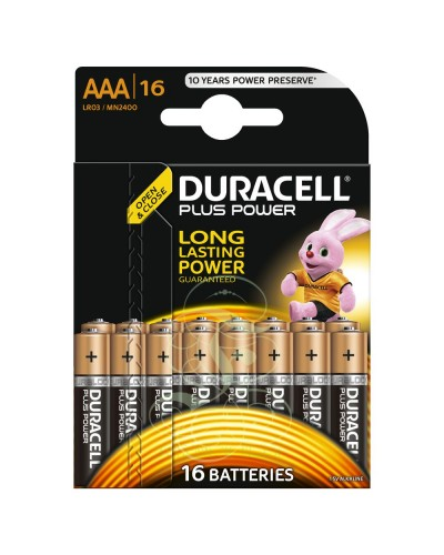 Duracell Plus Power Battery AAA Micro LR03 MN2400, 16 Pack