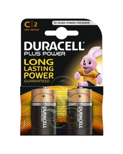 Duracell Plus Power Battery C Baby LR14 MN1400, 2 Pack