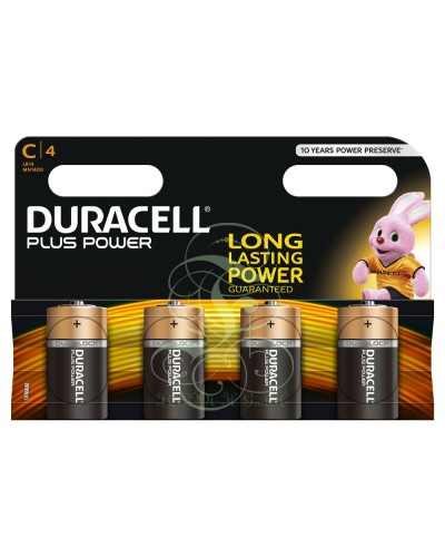 Duracell Plus Power Battery C Baby LR14 MN1400, 4 Pack