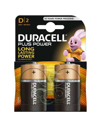 Duracell Plus Power Battery D Mono LR20 MN1300, 2 Pack