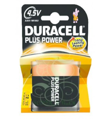 Duracell Plus Power Battery 4.5V Flat 3LR12 MN1203, 1 Pack