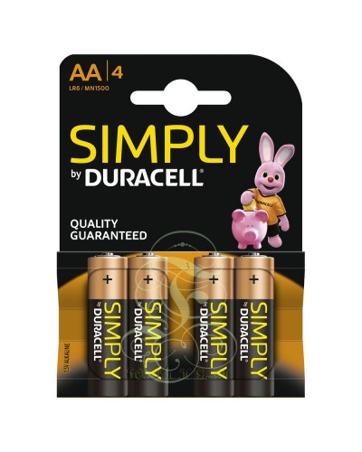 Duracell Simply Battery AA Mignon LR6 MN1500, 4 Pack