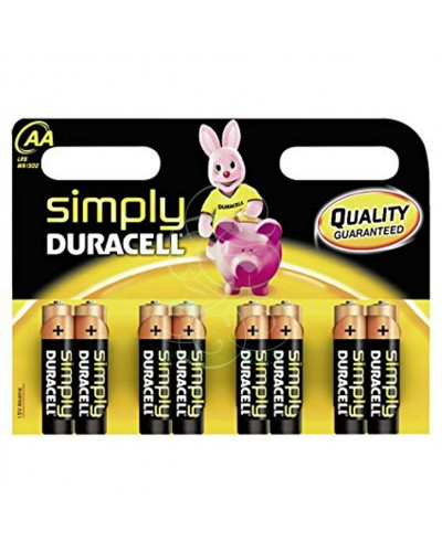 Duracell Simply Battery AA Mignon LR6 MN1500, 8 Pack