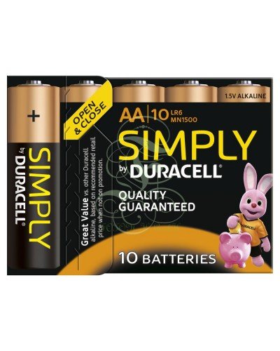 Duracell Simply Battery AA Mignon LR6 MN1500, 10 Pack