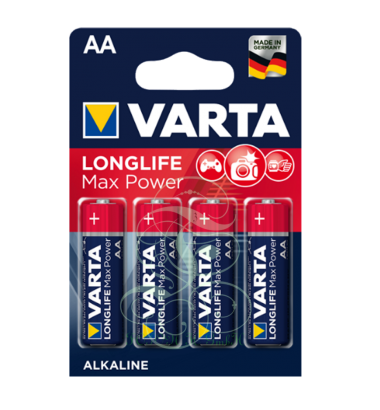 Varta Longlife Max Power Battery AA Mignon LR6 4706, 4 Pack