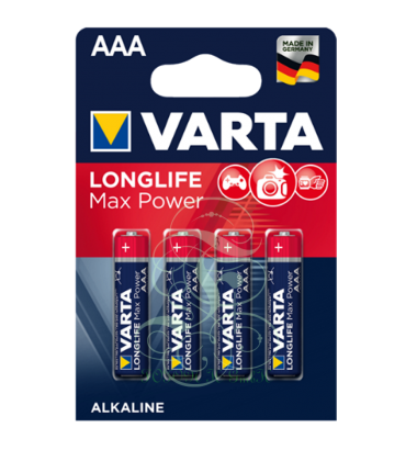Varta Longlife Max Power Battery AAA Micro LR03 4703, 4 Pack