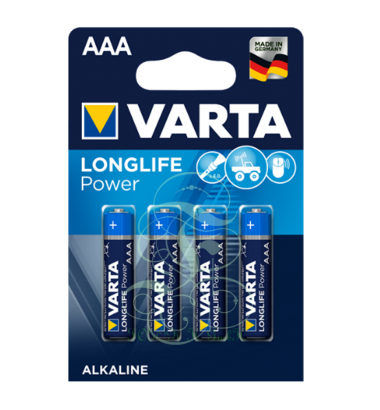 Varta Longlife Power Battery AAA Micro LR03 4903, 4 Pack