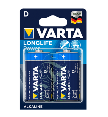 Varta Longlife Power Battery D Mono LR20 4920, 2 Pack