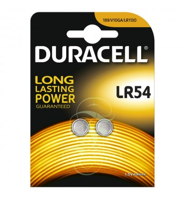 Duracell Buttoncell Battery LR54 389 390 AG10 LR1130, 2 Pack