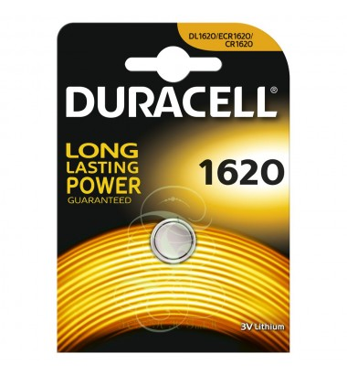Duracell Coincell Battey CR1620 3V, 1 Pack