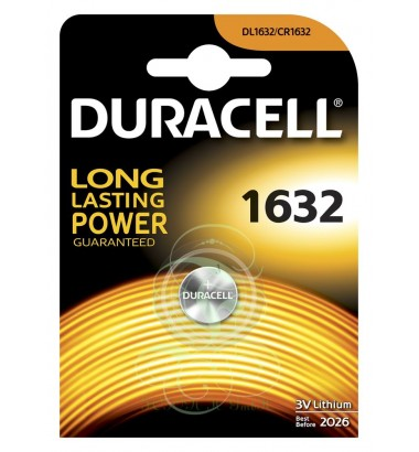 Duracell Coincell Battey CR1632 3V, 1 Pack
