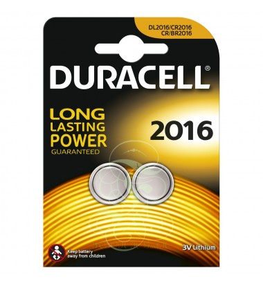 Duracell Coincell Battey CR2016 3V, 2 Pack