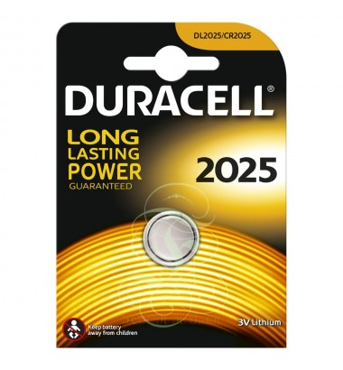 Duracell Coincell Battey CR2025 3V, 1 Pack