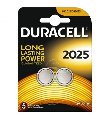 Duracell Coincell Battey CR2025 3V, 2 Pack