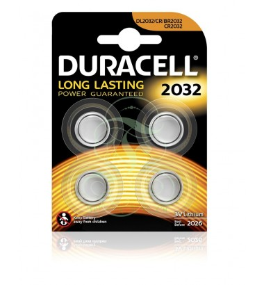 Duracell Coincell Battey CR2032 3V, 4 Pack