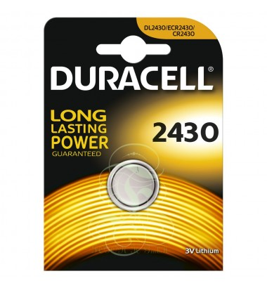 Duracell Coincell Battey CR2430 3V, 1 Pack