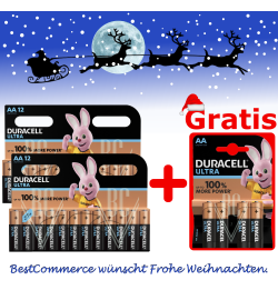 PROMOTION 2 x 12 Pack Duracell Ultra Power AA + FREE 4 Pack